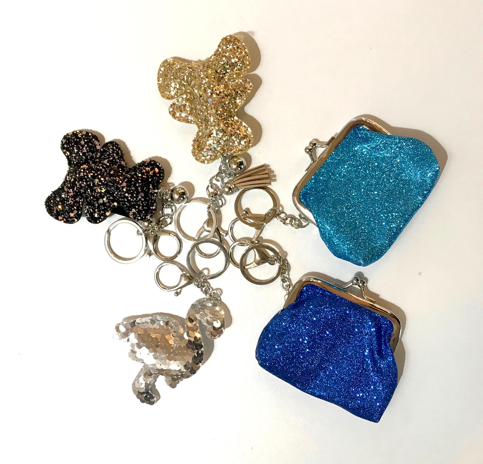Porte clés paillette divers modèles