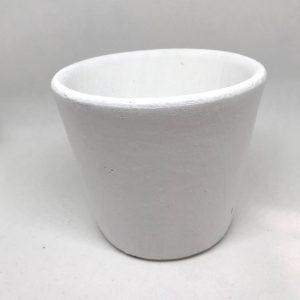 Cache pot blanc Diam 13
