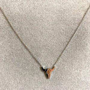 collier argenté tete de buffle