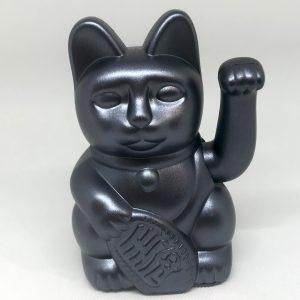 Chat porte-bonheur gris