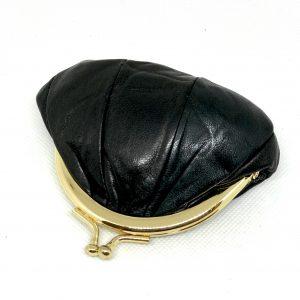 Porte monnair cuir noir