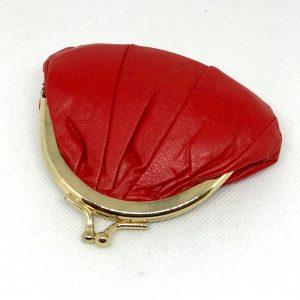 POrte monnair cuir rouge
