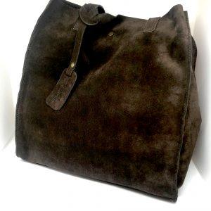 Cabas cuir brun